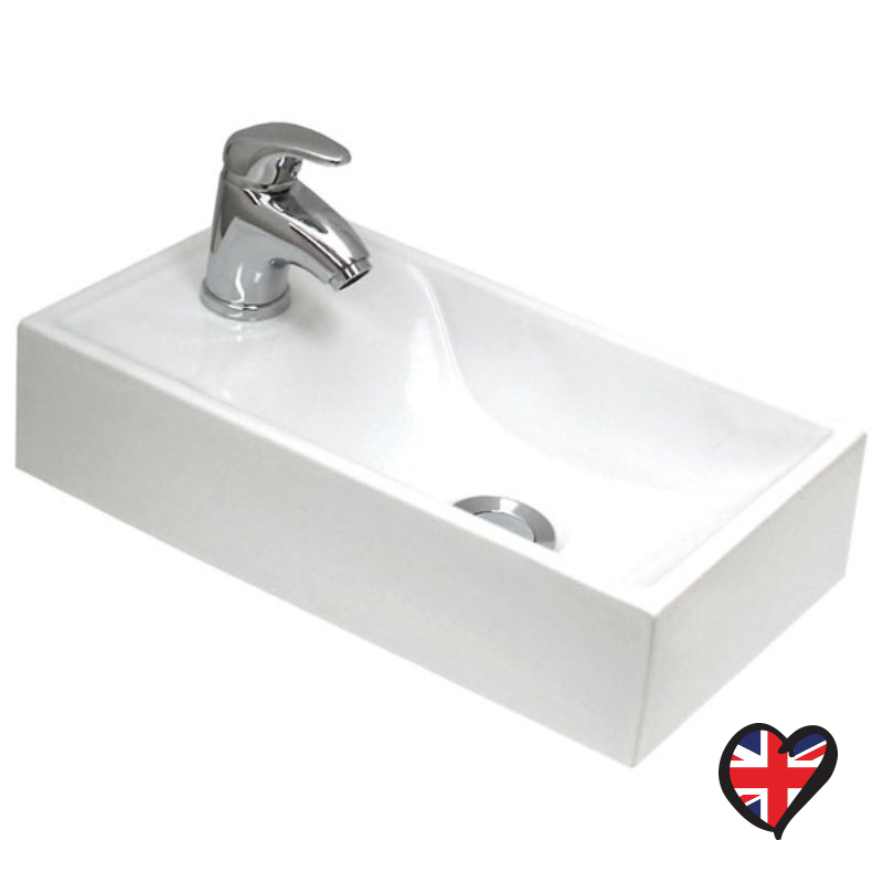 Fiord Rectangular Worktop Basin with 1 Tap Hole