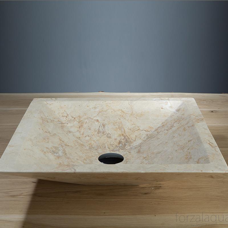 Milano Natural Stone Basin - Travertine