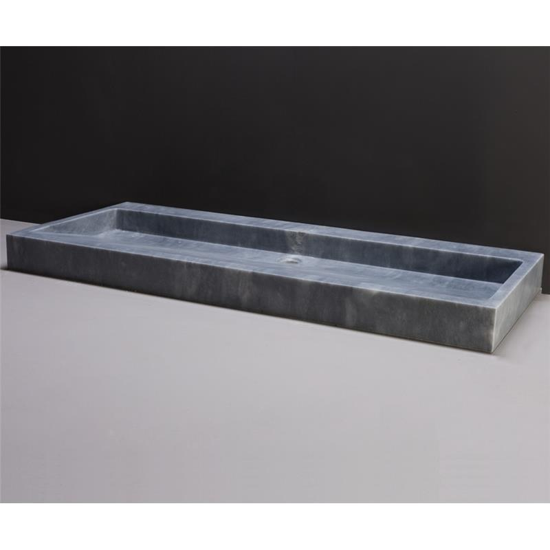 Palermo 120 Natural Stone Basin - Cloudy Marble No Tap Hole