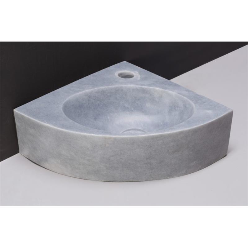 Turino Cloakroom Basin Cloudy Marble 1 Tap Hole