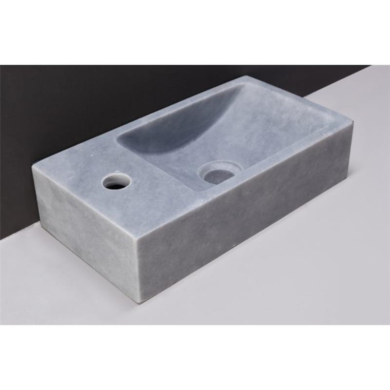 Venetia Natural Stone Basin - Cloudy Marble (Left) 1 Tap Hole