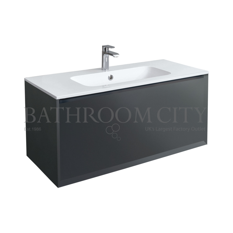 Enzo 101 Unit And Solid Surface Basin Graphite