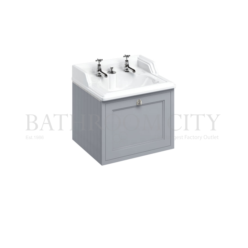 Wall Hung 65 Vanity Unit single drawer  - Grey
