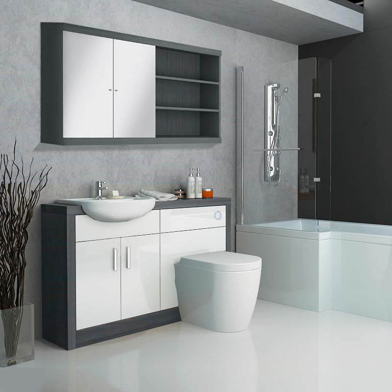 bathroom fitted cabinets hacienda fitted furniture pack white buy at 10566