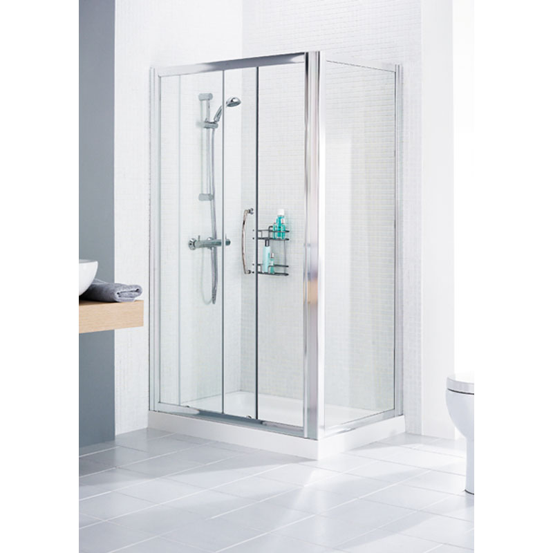 WHITE FRAMED SHOWER DOOR SIDE PANEL 700