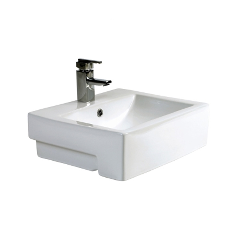 Qube 43 Semi-Recessed Basin
