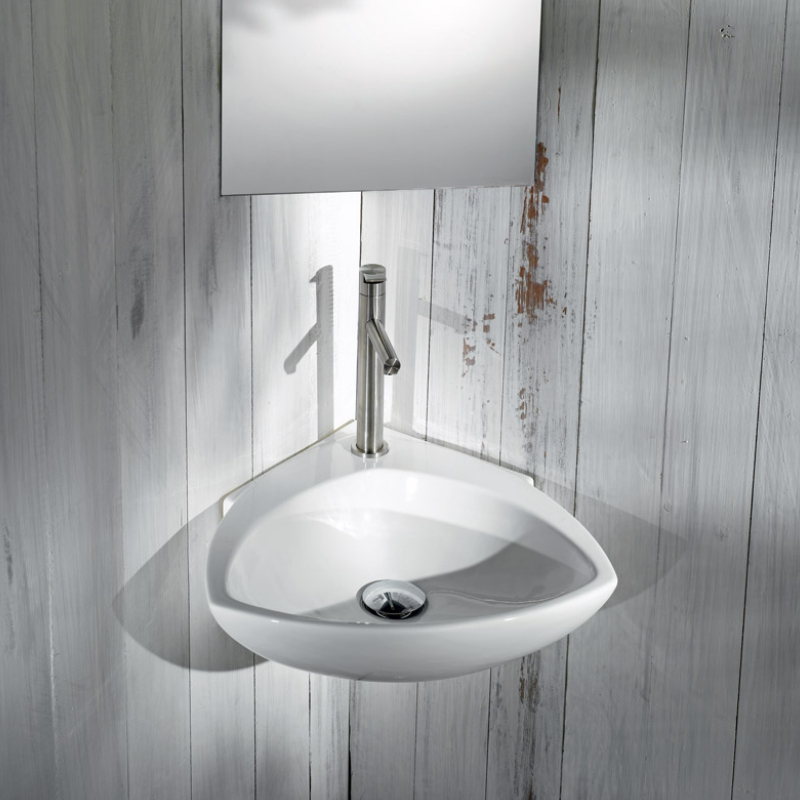 Tilly Corner Wall Hung Basin with 1 Tap Hole [AET L236]