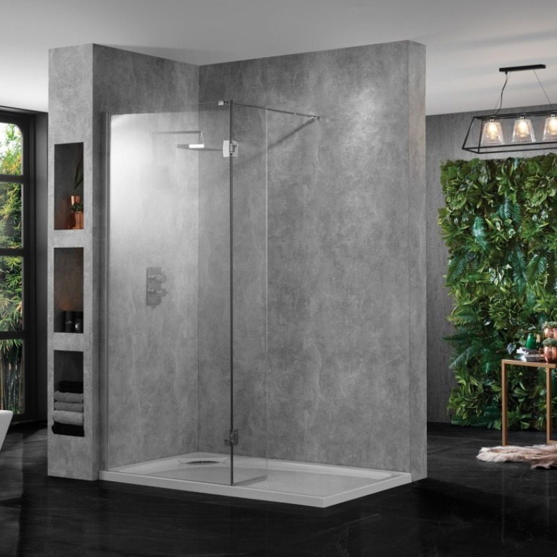 Wetroom Clear Glass 600 10mm