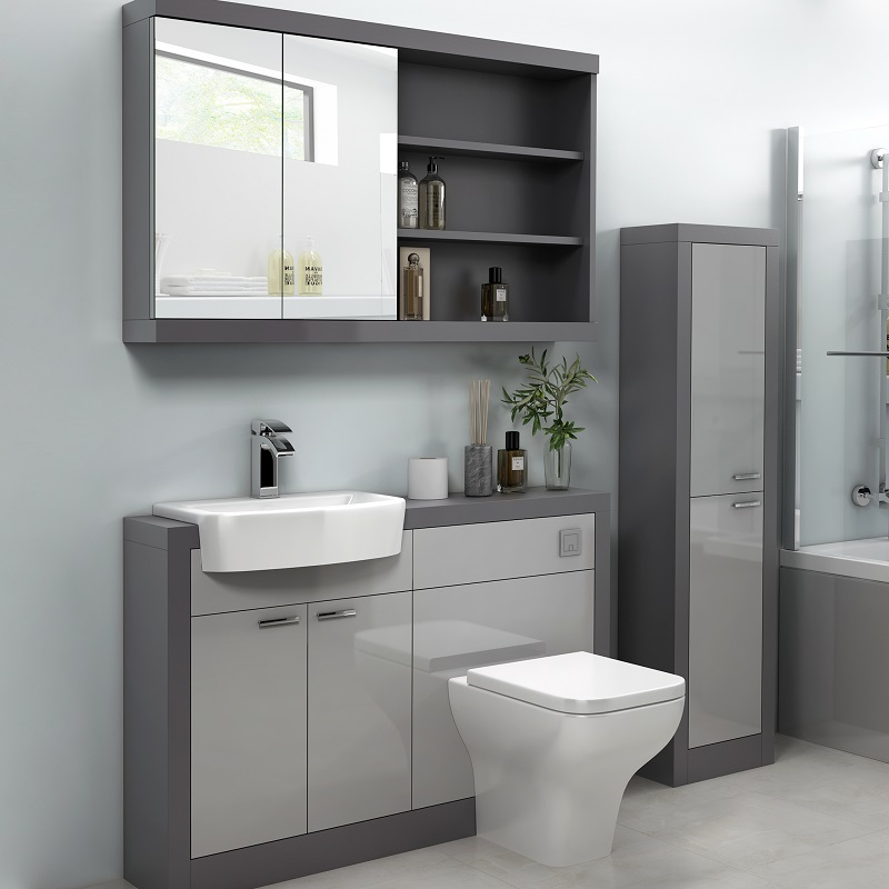 Grove 1200 Grey Vanity Unit | Buy Online at Bathroom City