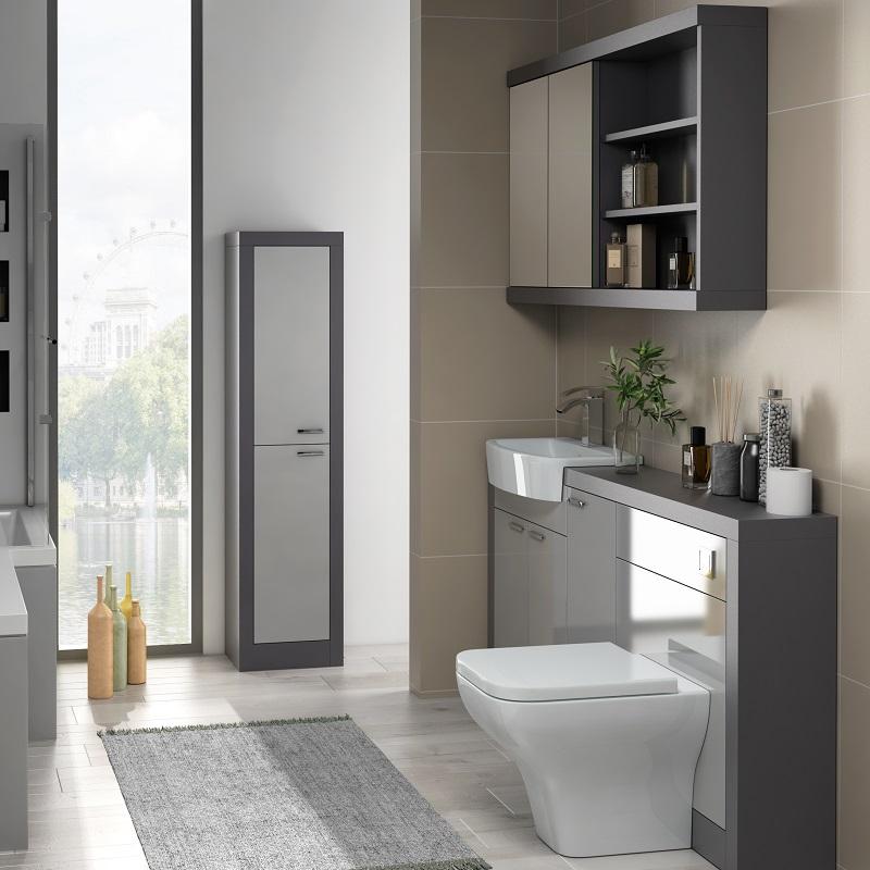 Grove 1500 Grey Vanity Unit   Buy Online at Bathroom City