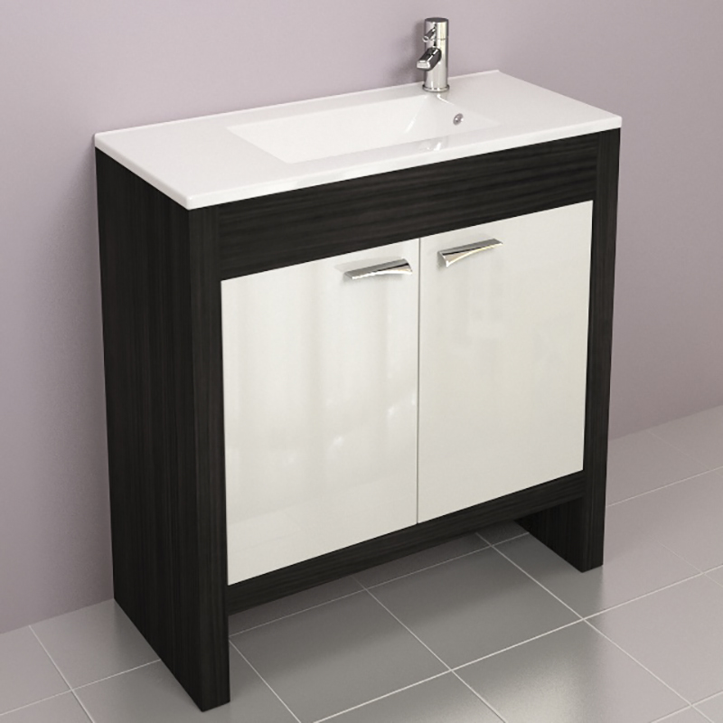 Hacienda Fitted Furniture Pack Grey Buy Online At Bathroom: HACIENDA 80 VANITY UNIT AND BASIN (colour Options) Buy