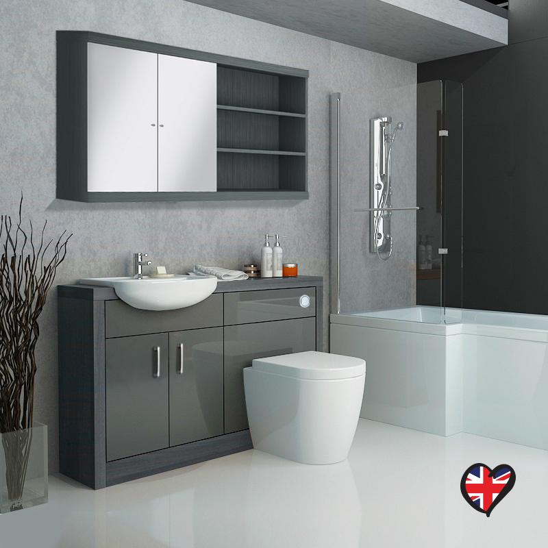 hacienda  vanity unit grey buy online at bathroom city, Home design