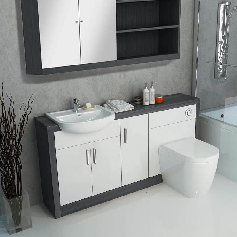 Hacienda 1500 Vanity Unit White Buy Online at Bathroom City