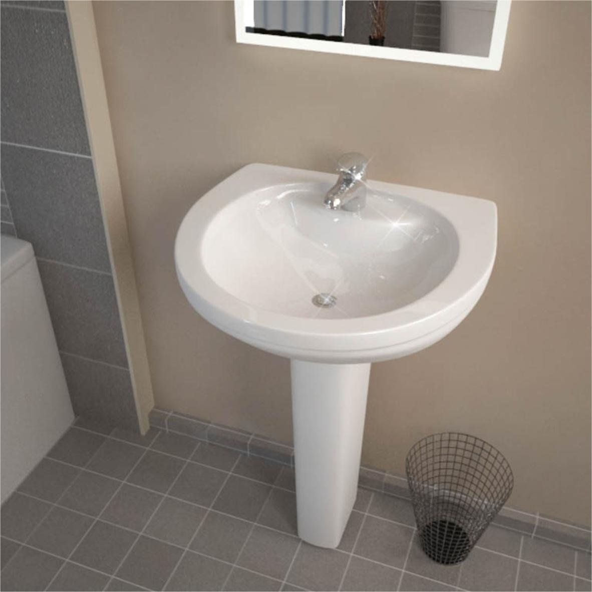 Bathroom 590 Large Basin And Pedestal Sale 49 Buy Online At Bathroom City