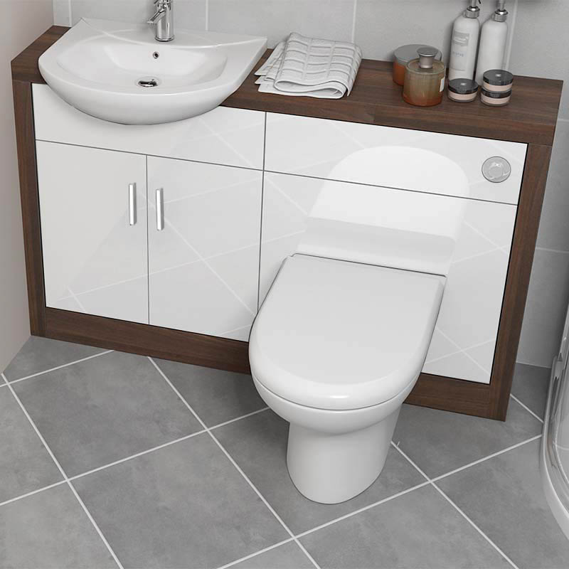 Lucido 1200 vanity unit white buy online at bathroom city for Bathroom sink and toilet units