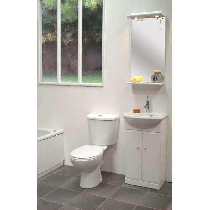 Cadiz Mirror With Light Pelmet Amp Shelf Bathroom City