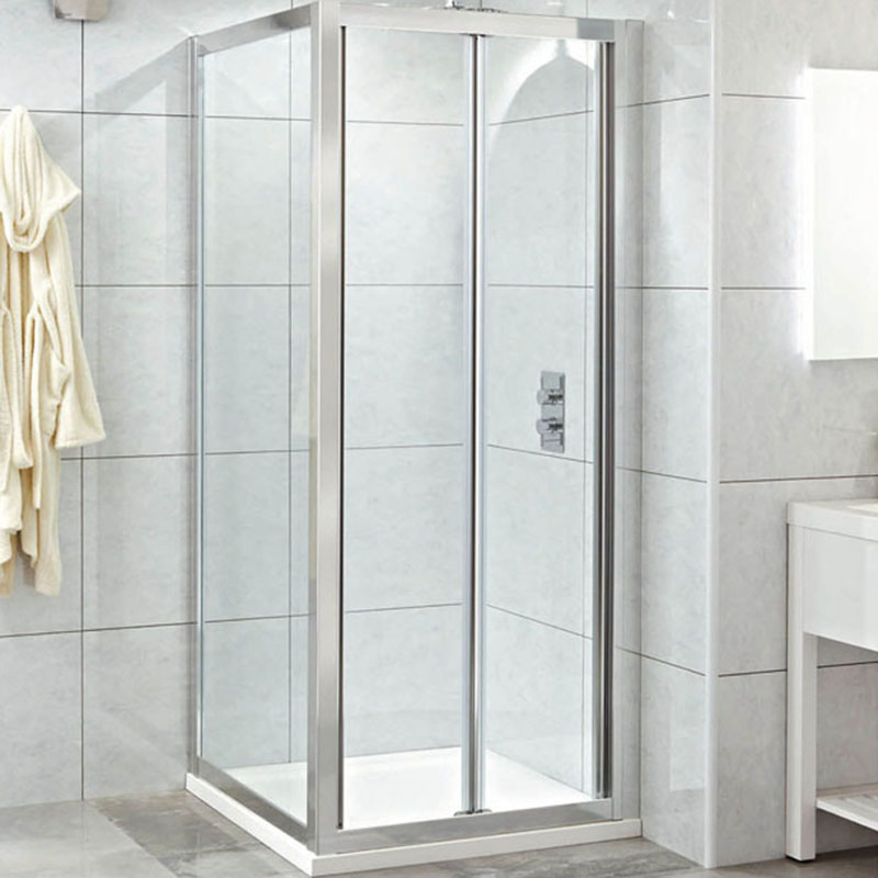 Spirit 8mm Bifolding Shower Door For Wall To Wall Glass