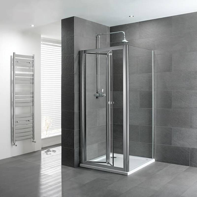 Volente Bifold Door Silver Shower Enclosure Buy Online At Bathroom City
