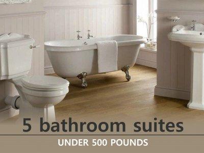 Five Bathroom Suites Under 500 Pounds