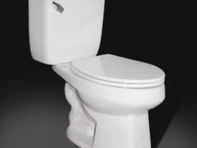 close coupled toilet with leaver