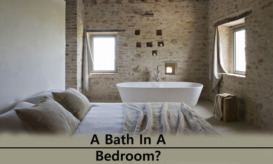 Image with a Bath in the Bedroom