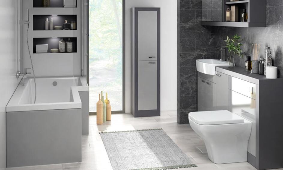 Grove L Shaped Shower Bath Suite