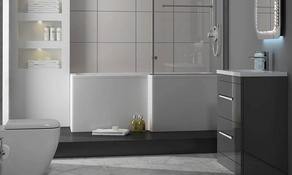 Patello Grey Bathroom Suite