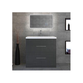 vanity sink. luxury grey large basin and unit Bathroom Vanity Units  Sink UK At City