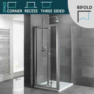 Bifold Shower Door space saving