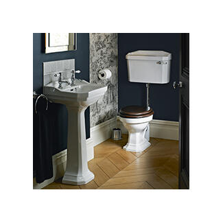 White Toilet basin and pedestal bathroom suite