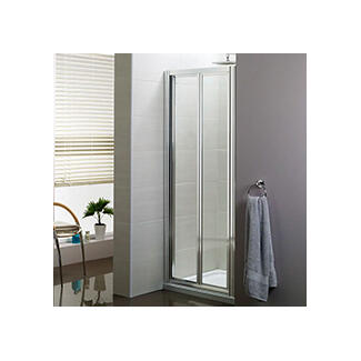 shower cubicle with door that folds inward