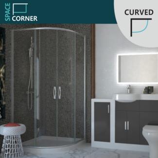 Corner quadrant shower enclosures for Sale