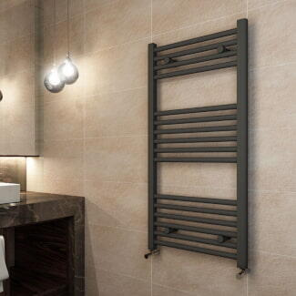 Lifestyle Image of Eastbrook Wingrave Grey Contemporary Towel Rail