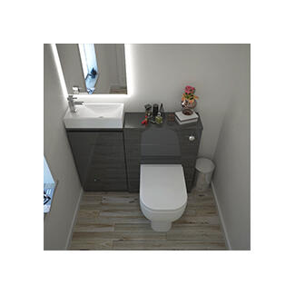 small cloakroom set in grey