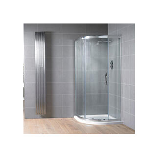 Offset quadrant corner shower cubicle