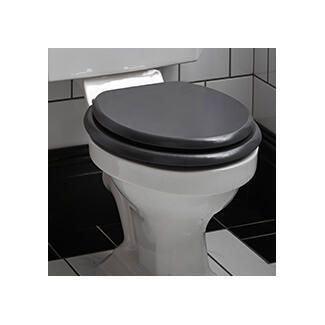 wooden toilet seat grey