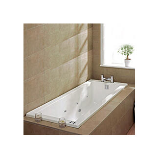 Bath with whirlpool spar hot tub style with Jacuzzi