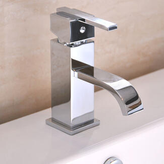 ultra modern square chrome basin sink tap with level handle
