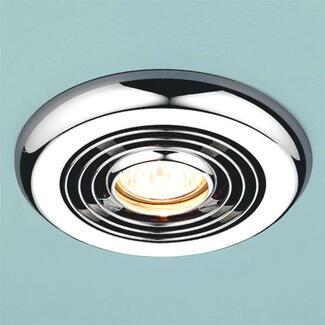 Round bathroom chrome ceiling light
