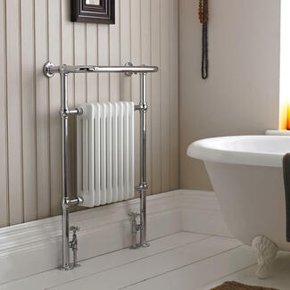bathroom heated radiator towel rail