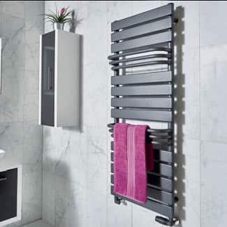 Modern Bathroom Grey Radiator Towel Rail