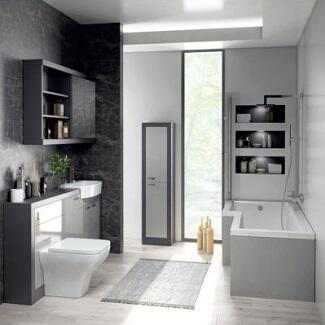 Modern Grey Bathroom Suite Complete