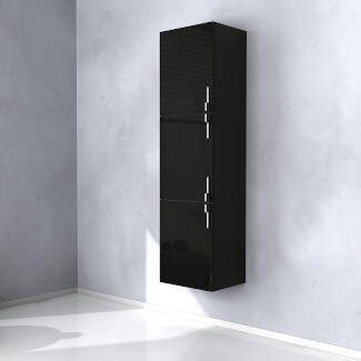 Black wall hung Sting Tallboy Cabinet