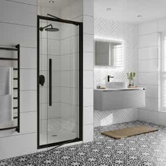 Matt Black Frames and Profiles on our Black Shower Doors and Enclosures