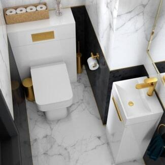 Cloakroom Suite with toilet and basin cabinet