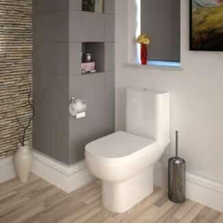 White Close Coupled Toilet