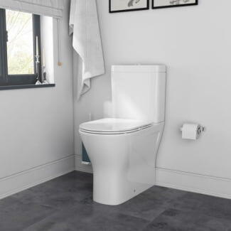 Room Scene View Showing Patello Comfort Height Toilet with Closed Back