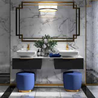 Large luxury Jivana double sink bathroom vanity unit