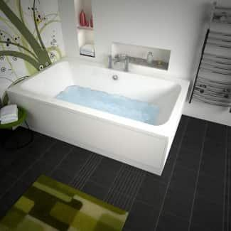 Image of a Large White Bath