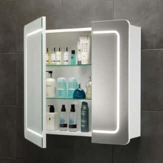 Mirrored Bathroom Cabinet-White